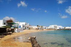 Caleta de Sebo na wysepce La Graciosa na północ od #Lanzarote
