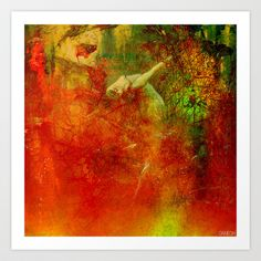 The clearing of the elfs Art Print by Ganech joe - $15.60