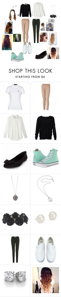 School uniform by jennam12 on Polyvore featuring Scoop, Polo Ralph Lauren, 7 For All Mankind, Converse, Vans, Wet Seal, Blue Nile, Karen Walker, women's clothing and women's fashion