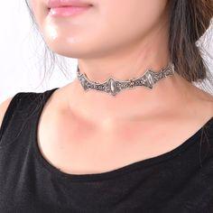 2017 Hot Boho Collar Gargantilla declaración Collar de la joyería de Plata para womenFashion estilo Étnico de La Vendimia de Bohemia Granos de la Turquesa de cuello