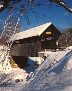 Gold Brook Bridge, Stowe, Vermont  One of the last covered bridges in New England, Gold Brook Bridge is a charming spot with a bit of an eerie past.