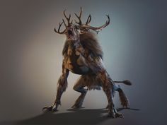 A creature from The Witcher 3... I don't really know these games very well, but the concept ideas seem good -Will