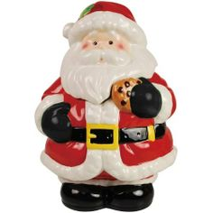 Westland Giftware Kookie Jars Santa 10-3/4-Inch Cookie Jar by Westland Giftware. $44.00. Fun kitchen accent. Cute kitchen accessory. High quality. Wonderful gift item. Not microwave or dishwasher safe. This adorable ceramic cookie jar features Santa Claus ready to enjoy his own cookie with you.