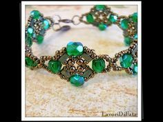DIY Ginevra's Bracelet: with superduos, seed beads, 6mm pearls, swarovski and roses beads. - YouTube