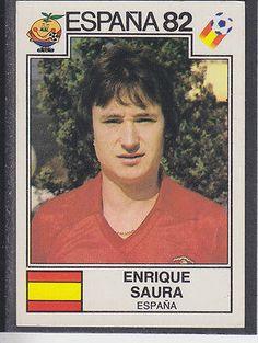Panini - Espana 82 World Cup - # 303 Enrique Saura - Espana