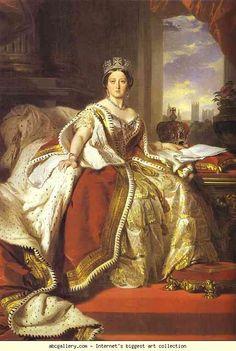 Franz Xaver Winterhalter. Queen Victoria. Olga's Gallery.