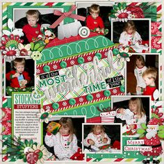 Used the following from the Sweet Shoppe: Template: Cindy's Layered Templates - Single 19: Wonderful - by Cindy Schneider Santa's Here Bundle by Red Ivy Designs