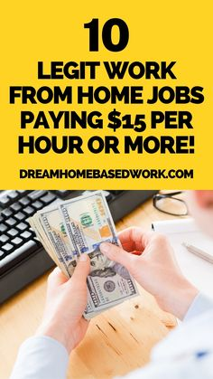 Need a job from home that pays well? I have done some research to find companies that pay their home-based workers $15 or more per hour. Use this list to get started on your job search! #workathome #onlinejobs #nowhiring Home Based Work, Legit Work From Home, Legitimate Work From Home, Work From Home Jobs, Earn Money Online Fast, Earn Money From Home, Make Money Blogging, How To Make Money, Work From Home Companies
