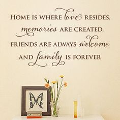 'Home Is' Quote Wall Sticker from notonthehighstreet.com