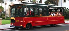"""See all of Santa Barbara on a Trolley! Santa Barbara Trolley company allows you to """"hop on, hop off"""" all day for .25 cents and they are electric!"""