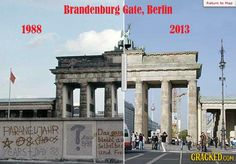 Berlin, before and after the wall... #TheCrazyCities #crazyBerlin