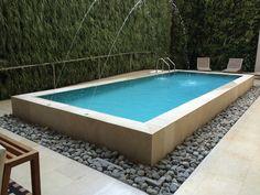 Backyard Plan, Small Backyard Pools, Backyard Pool Designs, Small Pools, Swimming Pools Backyard, Swimming Pool Designs, Pool Landscaping, Overflow Pool, Raised Pools