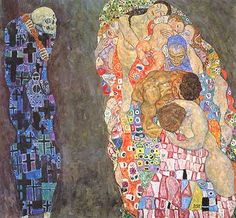 """Gustav Klimt, """"Tod und Leben (Morte e vita)"""", 1908-15, Leopold Museum, Vienna (Wien)"""