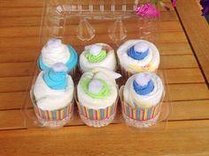 Blue And Green Diaper Cupcake