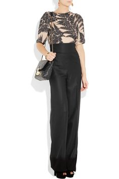 I how how retro and professional high-waisted pants can look.