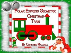 Free! Polar Express Geometric Christmas Train