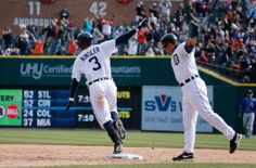 April 2, 2014 - Tigers 2, Royals 1 Ian Kinsler provides Detroit fan's with back-to-back walk-off winning singles to start the season at 2-0.
