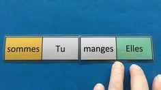 Jeu de domino des verbes au présent. Auto correctif, les enfants peuvent jouer en autonomie