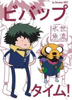 Cowboy Bebop x Adventure Time Mashup | Jet Black & Spike Spiegel | Shinichiro Watanabe | Anime | Fanart | SailorMeowMeow