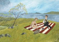 'Ode To A Picnic' By Painter Valeriane Leblond. Blank Art Cards By Green Pebble. www.greenpebble.co.uk