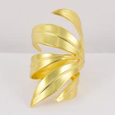 Bague Feu dorée- Schade Jewellery