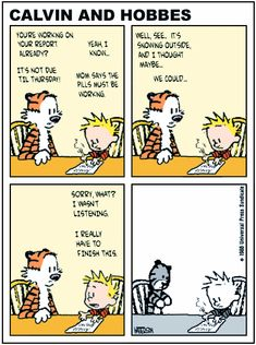 The last Calvin and Hobbes Comic Strip, this is not okay, Calvin can't hear Hobbes anymore...