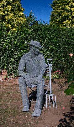 Derek Kinzett ~ British wire sculptor