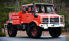 Own a Vintage Mercedes-Benz Unimog Fire Truck