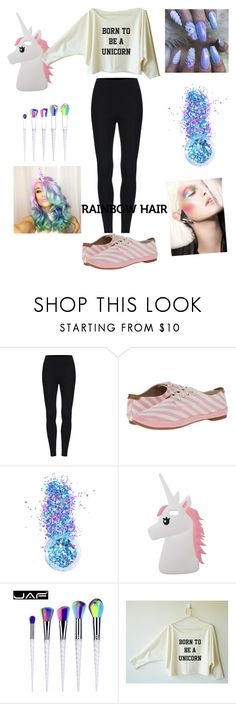 """Unicorn outfit"" by emmalouloulovespolyvore ❤ liked on Polyvore featuring beauty, BC Footwear, In Your Dreams, Miss Selfridge and unicornhair"