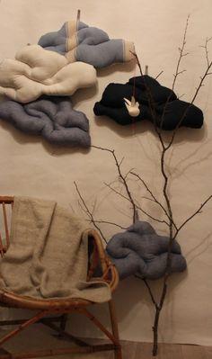 Coussin nuage toile de lin :: trendy little