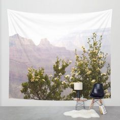 Cliff Rose at the Grand Canyon, Arizona Wall Tapestry