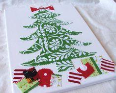 Fabric Canvas Christmas Tree