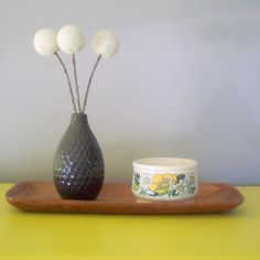 Cream pom pom flower bouquet.  Woodland rustic decoration.  White pom poms.  Centerpiece.  Neutral modern flowers.  Cotton balls.  Felted by berryisland on Etsy