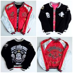 TEDMAN Lucky Little Devil Skull Skeleton Punk Rock Yakuza Yanki Juvenile Delinquent Sukajan Jacket - Japan Lover Me Store