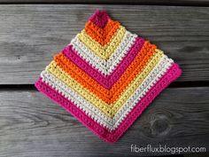 Fiber Flux...Adventures in Stitching: Free Crochet Pattern...Rainbow Sherbet Dishcloth