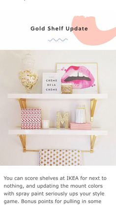 gold and white shells-IKEA cute accessories