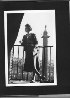 Coco Chanel on the balcony of her Ritz Apartment, 1935