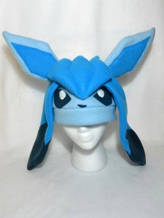 Pokemon Inspired Glaceon Fleece Hat -MADE TO ORDER-