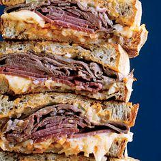 Press for Flavor: Grilled Sandwich Recipes  | NYC Melting Pot Reubens | MyRecipes.com