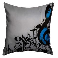 Maxwell Dickson Music Notes Throw Pillow - Overstock™ Shopping - Great Deals on Maxwell Dickson Throw Pillows