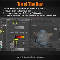 Mirror vertex in Maya Modeling Tips, Tip Of The Day, Wireframe, Maya, Reflection, Mirror, Mirrors, Maya Civilization, Website Wireframe