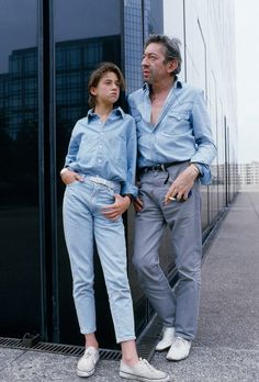 "mazzystardust:  ""Serge Gainsbourg with his daughter Charlotte, Paris, 1985.  """