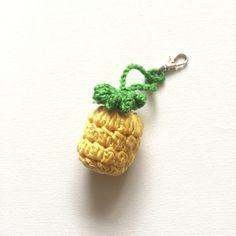 Crochet Pineapple Bag Charm Keyring