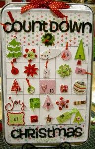printable to make a cookie sheet advent