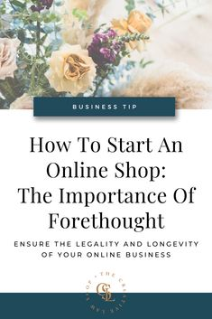 How To Start An Online Shop: The Importance of Forethought — The Creative Law Shop® Business Advice, Business Names, Business Planning, Online Business, Business Education, Etsy Business, Craft Business, Creative Business, Business Liability