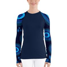 Nazar Midnight Blue Women's Rash Guard