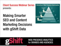 Making Smarter #SEO and #ContentMarketing Decisions with gShift Data