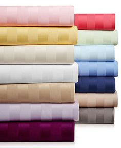 Charter Club Damask Stripe Pure Supima Cotton 550-Thread Count Sheet Sets, Only at Macy's - Sheets & Pillowcases - Bed & Bath - Macy's