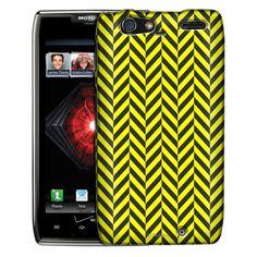 Motorola Droid Razr Maxx Chevron Mini Yellow Black Slim Case