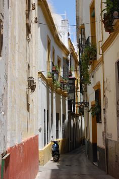 Sevia--most narrow streets  in all of Spain...balconies and laundry go together, like milk and cookes.